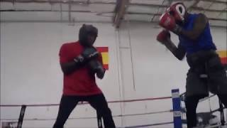 Vic Toney LIGHTS UP sparring partner at Heavy Hitters Boxing Gym!!!