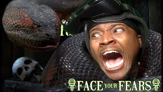 Screaming For My LIFE | Face Your Fears Hisssteria VR Gear VR  REACTION