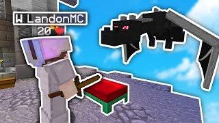 Minecraft BED WARS DRAGON vs HEROS!  (NOT FAKE!!)