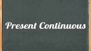 Present Continuous Tense - English grammar tutorial video tutorial