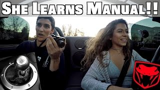 Teaching High School Girl To Drive Stick Shift Manual Dodge Viper!