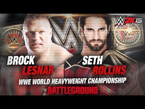WWE 2K15 - Battleground 2015 Brock Lesnar Vs Seth Rollins World Heavyweight Championship