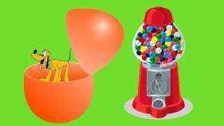 Gumball machine surprise eggs toys Inside Out Spongebob huevos sorpresa juguetes