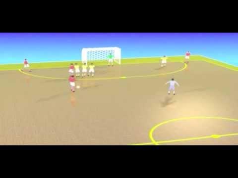 Futsal Jogadas Ensaiadas de Tiro Livre Futsal Plays Shoot