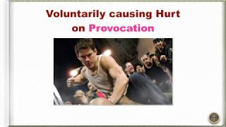 Voluntarily causing Hurt on Provocation
