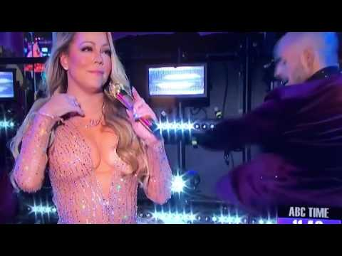 Mariah Carey's Huge Mistake during New Year's Eve 2017 Concert (FAIL)