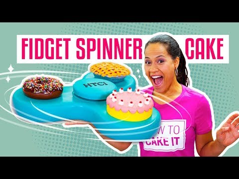 How To Make A FIDGET SPINNER Out Of CAKE It Actually SPINS Yolanda Gampp How To Cake It