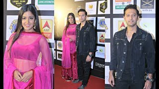 Vatsal Sheth And Ishita Dutta First Appearance After Wedding At Lions Gold Awards 2018