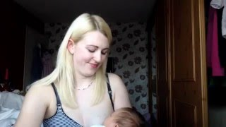 How to get a good latch on sore nipples - breastfeeding a newborn!