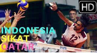 LAGI !!! Dengan Gemilang TIMNAS VOLLY Indonesia SIKAT  Qatar 3  - 2   26 jULI 2017 FULL HD