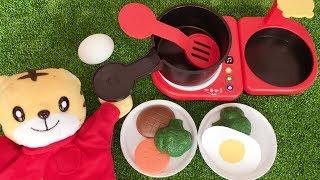 しまじろう「音でなりきりキッチンセット」でお料理!★こどもちゃれんじぷち 1~2歳向け