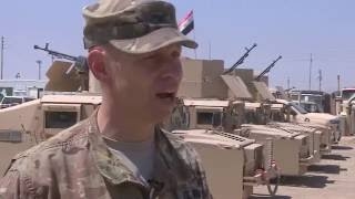 حصرياً بي بي سي تزور معسكرا أمريكيا في العراق