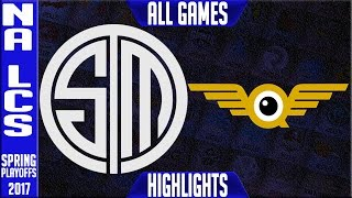 TSM vs FlyQuest ALL GAMES Highlights - Semifinal NA LCS Playoffs Spring 2017 - Team Solomid vs FLY