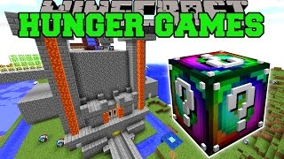 Minecraft: POPULARMMOS CASTLE HUNGER GAMES - Lucky Block Mod - Modded Mini-Game
