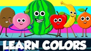 Learn Colors With Fruits Fruits Song Nursery Rhymes For Kids Baby Songs Kids tv
