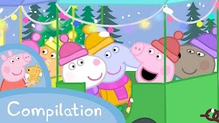 Peppa Pig Episodes - Winter compilation - Cartoons for Children