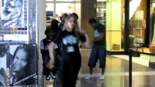 Beautiful White Girl dancing Salsa