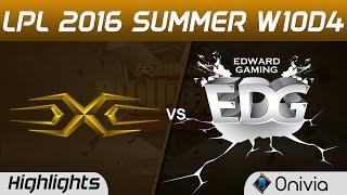 SS vs EDG Highlights Game 1 Tencent LPL Summer 2016 W10D4 Snake vs Edward Gaming