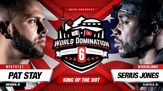 KOTD - Rap Battle - Pat Stay vs Serius Jones | #WD6ix