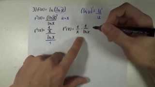 Derivadas / Regra 8 - Função Log. Natural (ln)