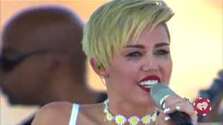 Miley Cyrus - Wrecking Ball (Live on iHeartRadio Music Festival Village 2013)