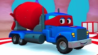 Carl der Super Truck und der Betonmischer in Car City  Auto und Lastwagen Bau Cartoons (für Kinder)