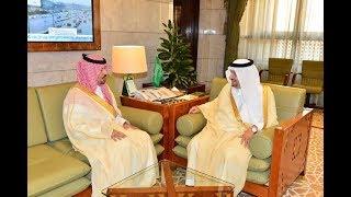 سمو  الأمير فيصل بن بندر أمير منطقة الرياض يستقبل سمو الأمير خالد بن عياف وزير الحرس الوطني