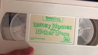 Barney's Rhymes With Mother Goose 1993 VHS