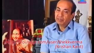 Mahendra Kapoor Talks About Mohammed Rafi sahab