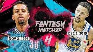 "Fantasy Match-Up: Stephen Curry vs Dell Curry EPIC ""Son vs Father"" Duel Highlights (2015 vs 1996)"