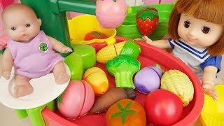 Baby doll fruit wash sink kitchen toys baby Doli play