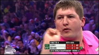 Lewis v Brown   Round Two   World Darts Championship 2015