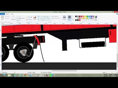 Desenhando carreta para Scania 124