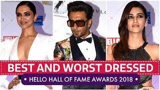 Deepika Padukone, Kriti Sanon, Mira Rajput: Hello Hall of Fame Awards 2018 | Pinkvilla | Bollywood