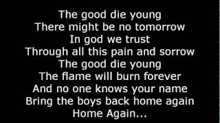 Scorpions-The good Die Young Lyrics