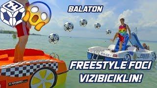 Freestyle Foci VIZIBICIKLIN A BALATONON | Soccer freestyle on paddle boats