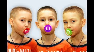 Learn Colors with baby - Songs for kids with colored Pacifiers