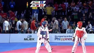 Female -57kg Semifinal: Iran vs. Philippines I 22nd Asian Taekwondo Championships