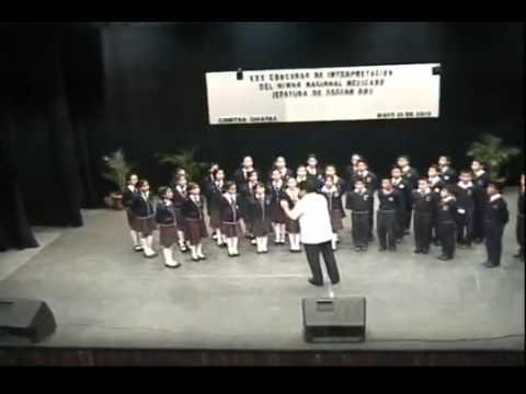 HIMNO NACIONAL MEXICANO 15 de mayo escuela ganadora.flv