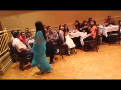 Indian Cute Aunty Belly dance While party at Hotel