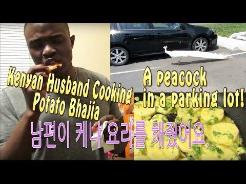 KENYAN HUSBAND COOKING BHAJIA | A