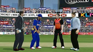 12th April IPL 11 Sunrisers Hyderabad V Mumbai Indians real cricket 2018 aNdroid IOS Gameplay
