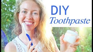 HOW TO MAKE NATURAL TOOTHPASTE - Remineralizing, Vegan, with Coconut Oil, Baking Soda
