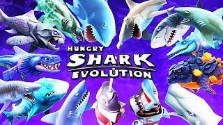 ALL SHARKS + SPECIAL SHARKS (HUNGRY SHARK EVOLUTION)