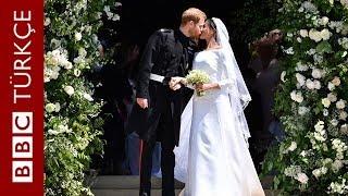 Prens Harry ve Meghan Markle evlendi: 120 saniyede düğünde yaşananlar