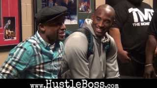 Real rap with Floyd Mayweather and Kobe Bryant after the Lakers-Kings preseason game in Vegas