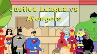 Justice League vs Avengers Animated Cartoon