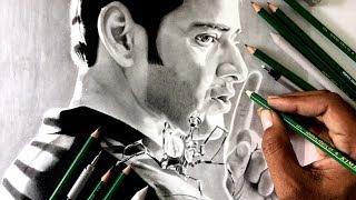 Drawing Spyder ( Mahesh Babu ) realistic sketch and Give away