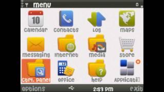 change fonts on nokia e5-00 s60v3 device.avi