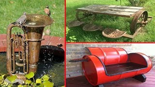 36 Recycled Scrap Metal Art Into Furniture Ideas